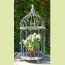 Cage à oiseau en métal vieilli - petit modèle